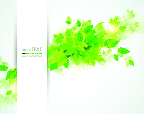green leaves with grunge background graphics vector
