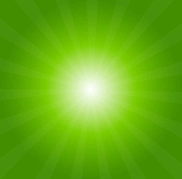 Green Light Burst Abstract Background
