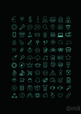 green line life icons
