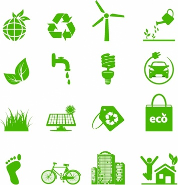 Green Living Environmental Icons