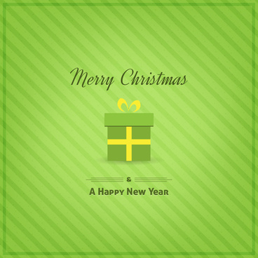 green merry christmas and happy new year