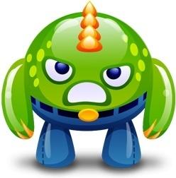 Green monster happy
