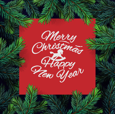 green needles frame xmas background graphics