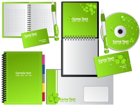 green notebook vector