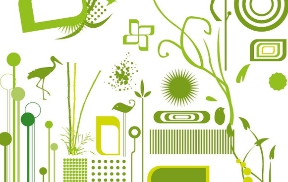 Green objects free vectors