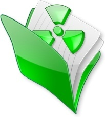 Green open document folder