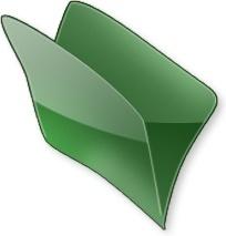 Green open folder