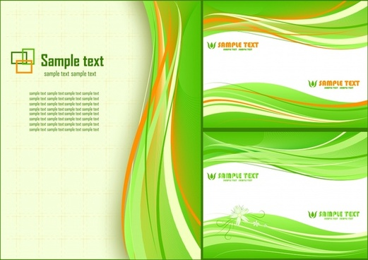 abstract background templates green dynamic curves ornament