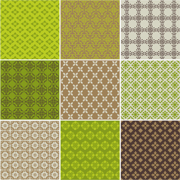green patterns set