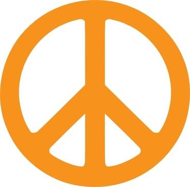 Green Peace Symbol clip art