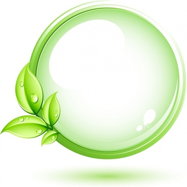 Green plant and circle
