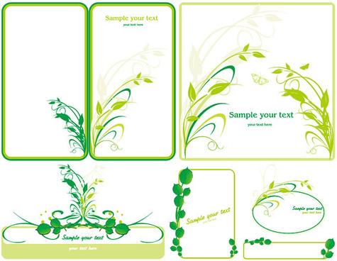 green plants border vector