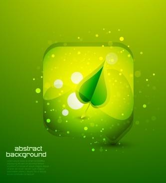 ecology background leaf sketch modern green bokeh decor