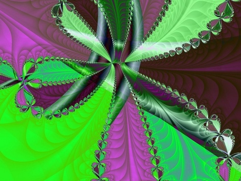 green purple black fractal