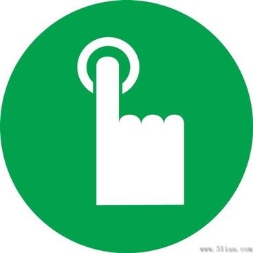 green rang the bell icon vector