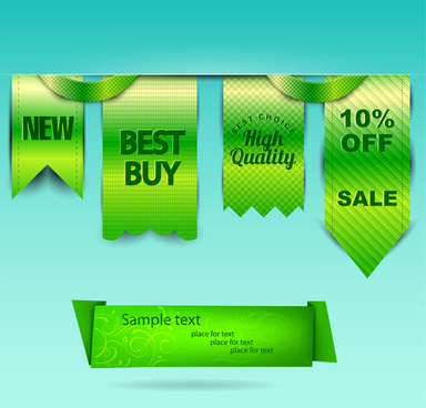green sale label