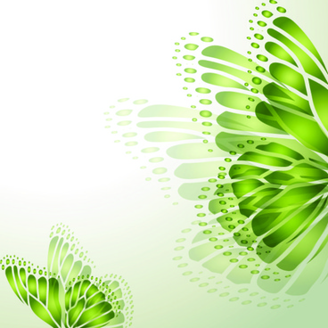 green season style vector background