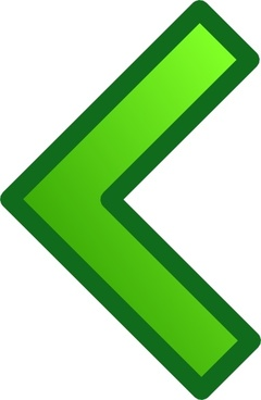 Green Single Left Arrow Set clip art