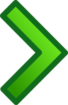 Green Single Right Arrow Set clip art