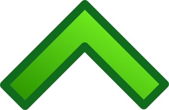 Green Single Up Arrow Set clip art