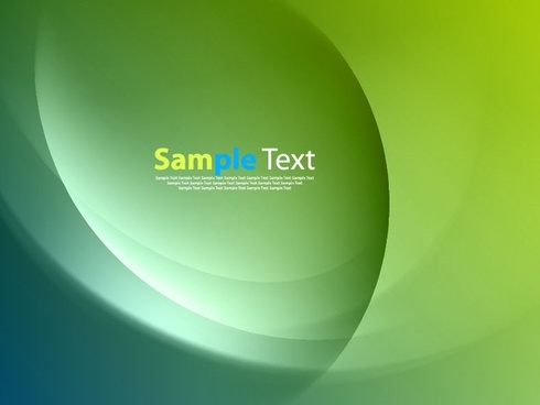 green smooth twist light lines vector background