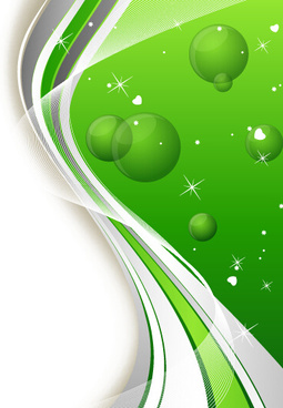 green sphere and abstract shiny background vector