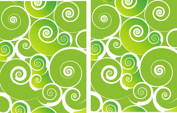 green spiral background design elements