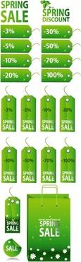 green spring tag sale tag vector