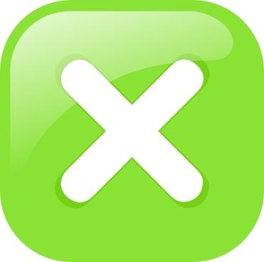 Green Square Submit Icon clip art
