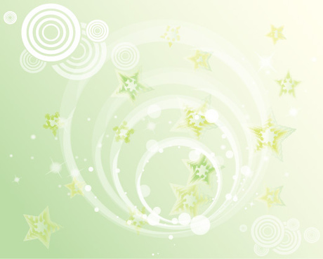 green stars background