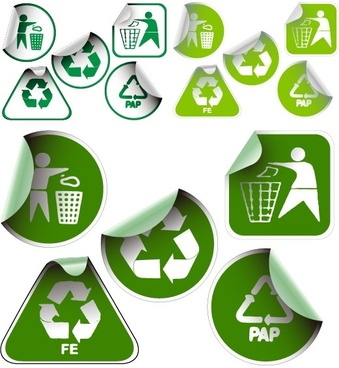 green sticker icon vector