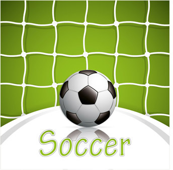 green style soccer background vector