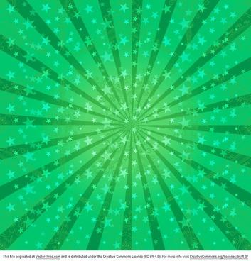 green sunburst vector