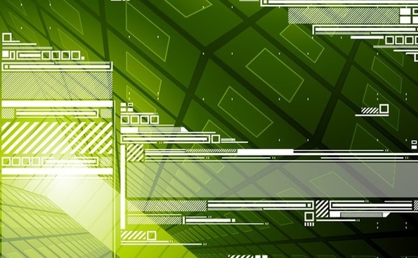 green abstract background technology style design