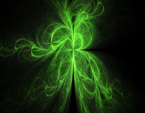 green tendrils fractal