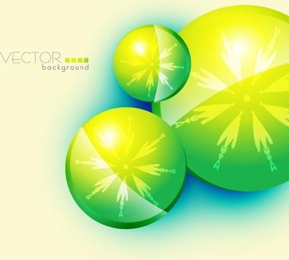 decorative background modern bright green circles symmetric arrows
