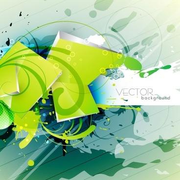 green textured background 03 vector