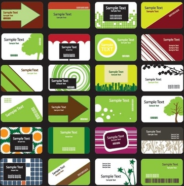 green theme card template vector