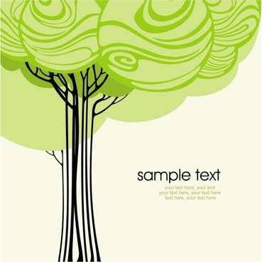 green tree illustration series 02 vector