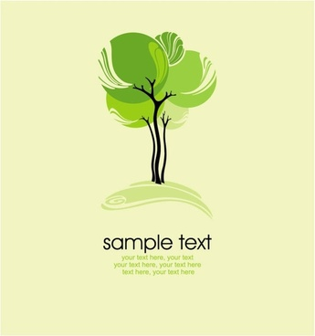 green tree illustration series 03 vector