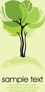 green trees illustrator vector