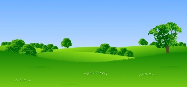 green trees landscape vector