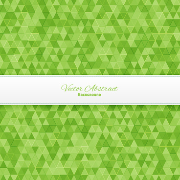 green triangle geometric abstract background