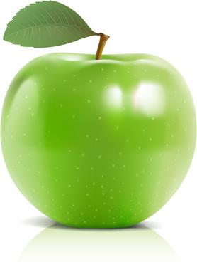 green vector apple food graphics