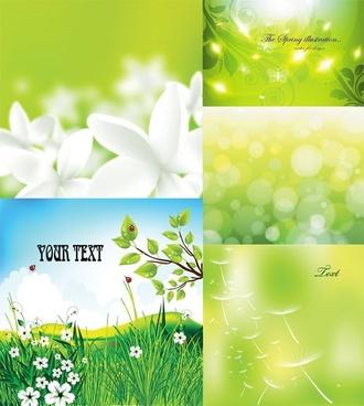 green vector background dream