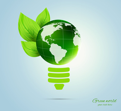 green world and eco background vector