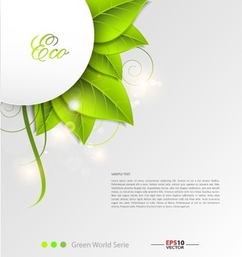 green world creative eco background vector