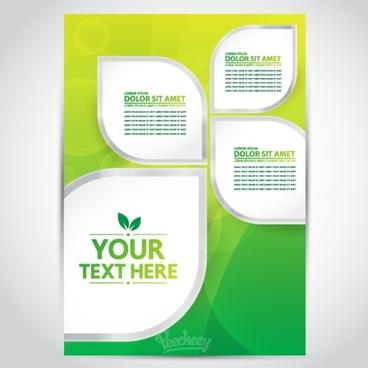 green yellow brochure
