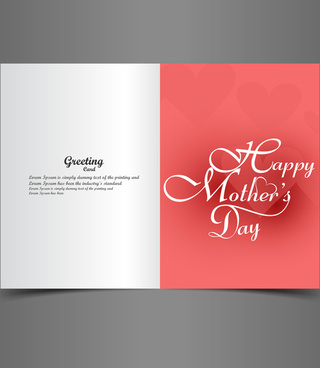 greeting card mothers day creative text concept vector