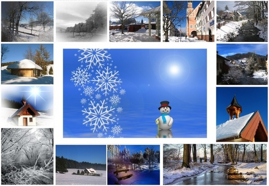 greeting card winter snow